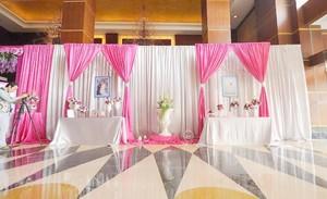 粉色主题婚庆现场