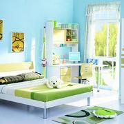 清新儿童房卧室图片