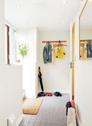 简约家庭进门玄关装修设计效果图