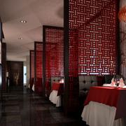 餐厅中式屏风隔断