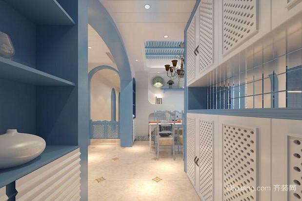别墅地中海风格鞋柜装修效果图片