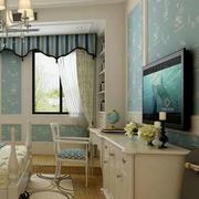 淡色调卧室壁纸设计