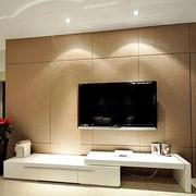 客厅咖啡色电视背景墙