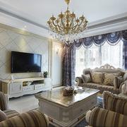 欧式风格客厅吊顶图片