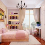 粉色调儿童房效果图