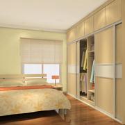卧室米黄色的衣柜