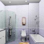 清新型浴室装修图片
