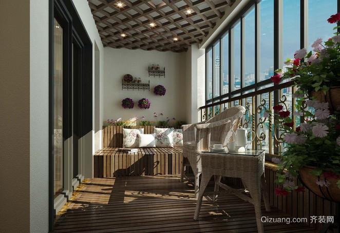 现代舒适实用封闭阳台装修效果图