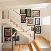 楼梯时尚照片墙欣赏