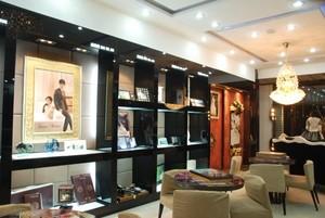 韩式精品婚纱影楼店面背景墙装修设计效果图