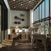 小户型温馨阳台生态木地板