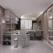 厨房吧台酒柜展示
