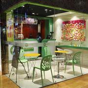 清新绿色奶茶店