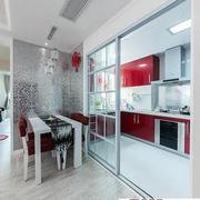 客厅玻璃透明隔断门设计