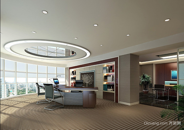 精美豪华的企业领导办公室装修效果图