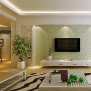 绿色电视背景墙欣赏