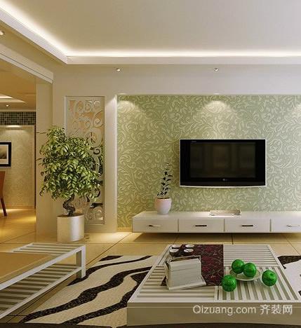 新房硅藻泥电视背景墙装修效果图