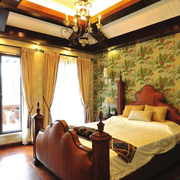 美式精致的卧室