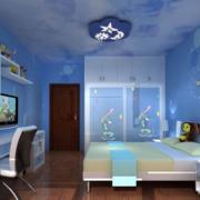 儿童房蓝色装潢设计