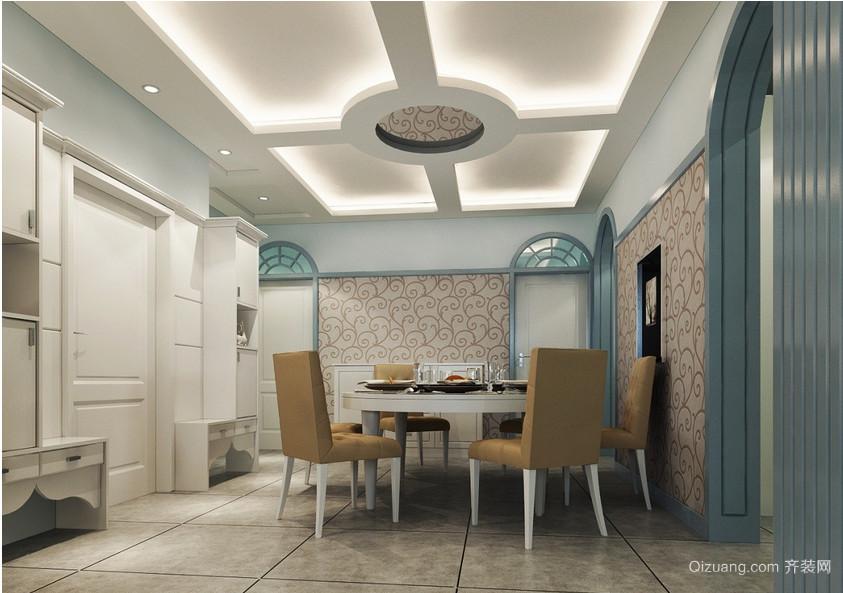 大户型时尚欧式餐厅吊顶装修效果图