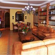 尊贵华丽型美式田园客厅
