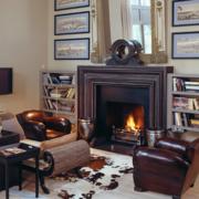 客厅装修火炉设计