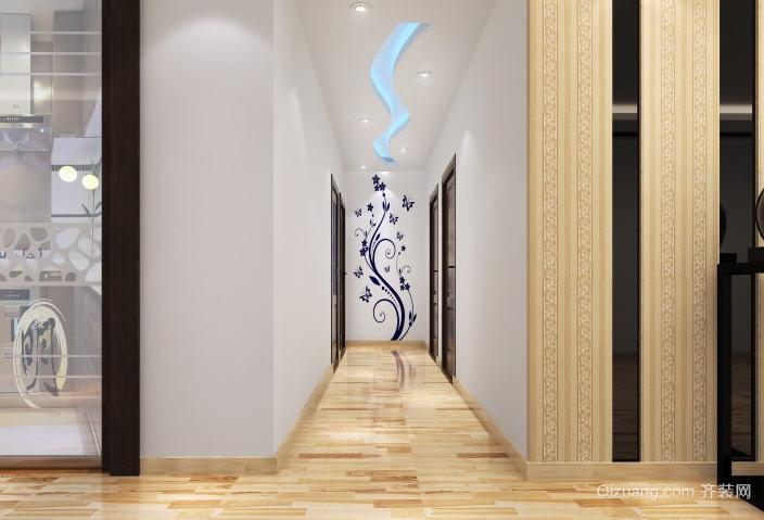 三室一厅欧式时尚客厅过道吊顶装修效果图
