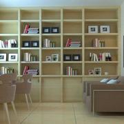 复式楼家常简约日式木质书柜