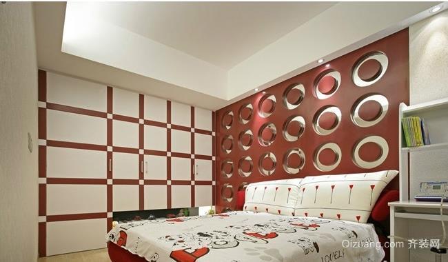 温馨儿童房卧室儿童床装修效果图