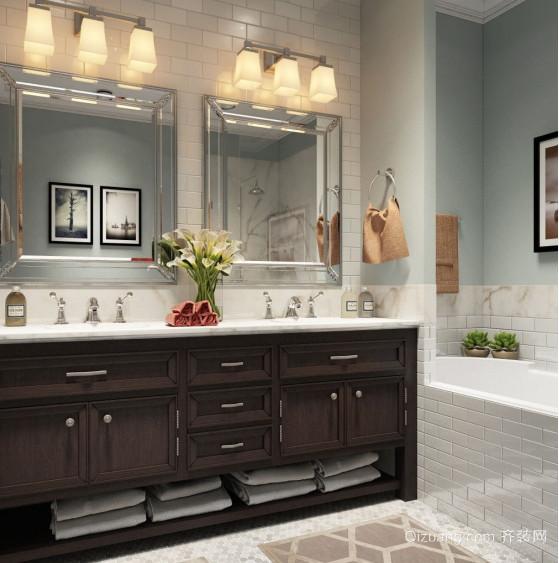 现代都市精致式整体浴室装修效果图