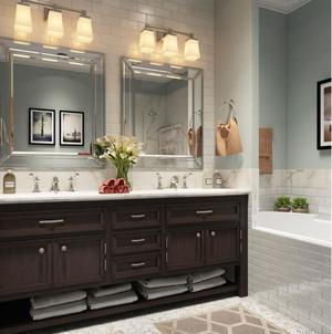 浴室美式收纳柜图片