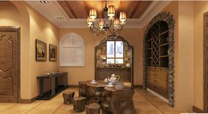 美式餐厅酒柜图片