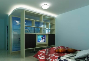 小户型客厅卧室隔断装修效果图