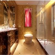 欧式优雅型暖色卫生间