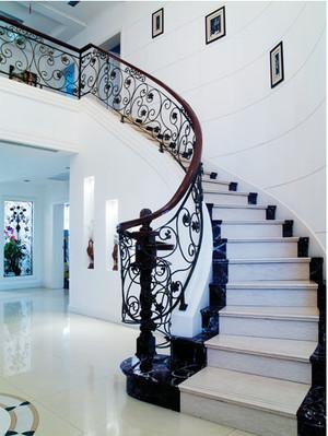 时尚铁艺旋转楼梯装修效果图
