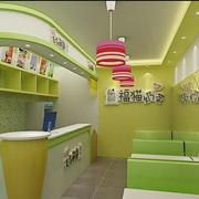 清新绿色的奶茶店