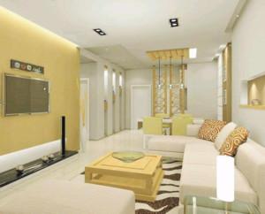 两居室轻快韩式客厅装修效果图