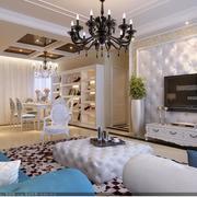 客厅白色时尚背景墙