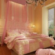 粉色温暖的卧室