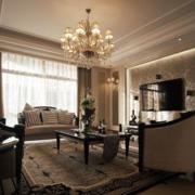 美式经典风格客厅