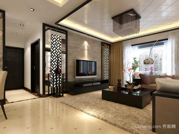 跃层式住宅中式家装室内装修效果图