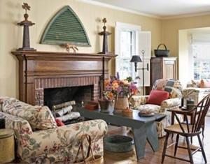 美式客厅火炉设计