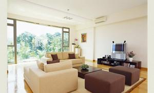 110平米暖色调日式风格客厅吊顶电视背景墙装修效果图