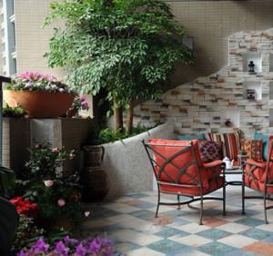 小复式楼阳台花园装修效果图