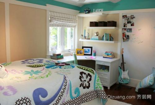 美式 二层 复式 楼书房 带床装修效果图 齐装网装
