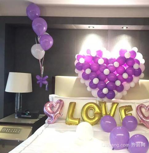 婚房气球装饰造型布置效果图