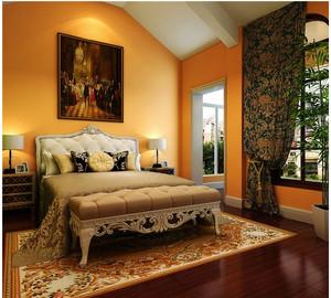 复古典雅卧室飘窗