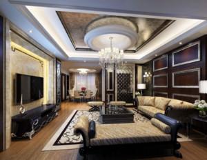 两室一厅欧式奢华客厅装修效果图