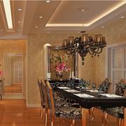 欧式风格餐厅吊顶图片