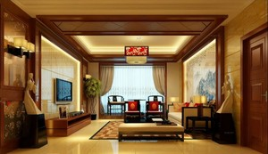 文化魅力十足中式客厅装修效果图